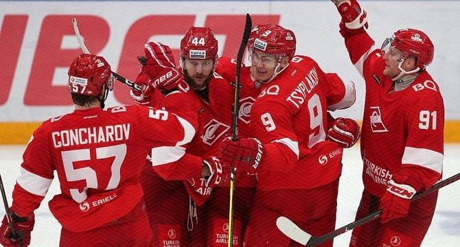Spartak M KHL game